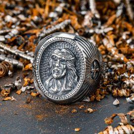 イエス 十字架 宗教 ステンレススチール 指輪