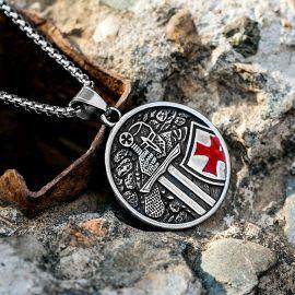 テンプル騎士団 十字軍 ステンレススチール ペンダント