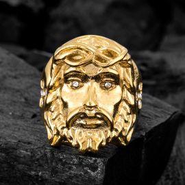 ゴールド イエス ステンレススチール リング