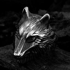 ヴィンテージ 狼 ステンレススチール リング
