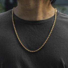 幅4mm ゴールド ロープ チェーン ネックレス