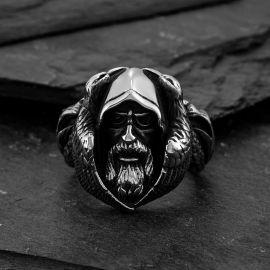 北欧神話 オーディン 狼 ステンレススチール リング