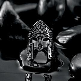 バイキング 戦士 スパルタン ヘルメット ステンレススチール リング