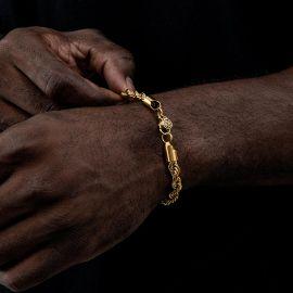 ゴールド 6mm ロープ ブレスレット