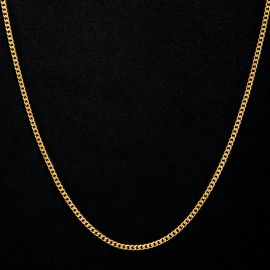 ゴールド 2.5mm ステンレススチール キューバ チェーン