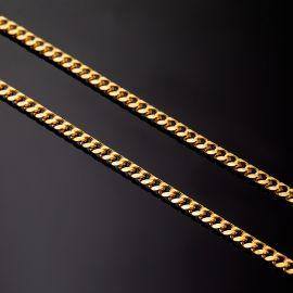 ゴールド 2.5mm キューバ ブレスレット