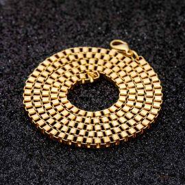 ゴールド 3mm スクエア ボックス チェーン
