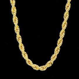 幅10mm ゴールド ロープ チェーン ネックレス