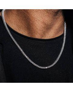 幅3mm ホワイトゴールド テニス ネックレス